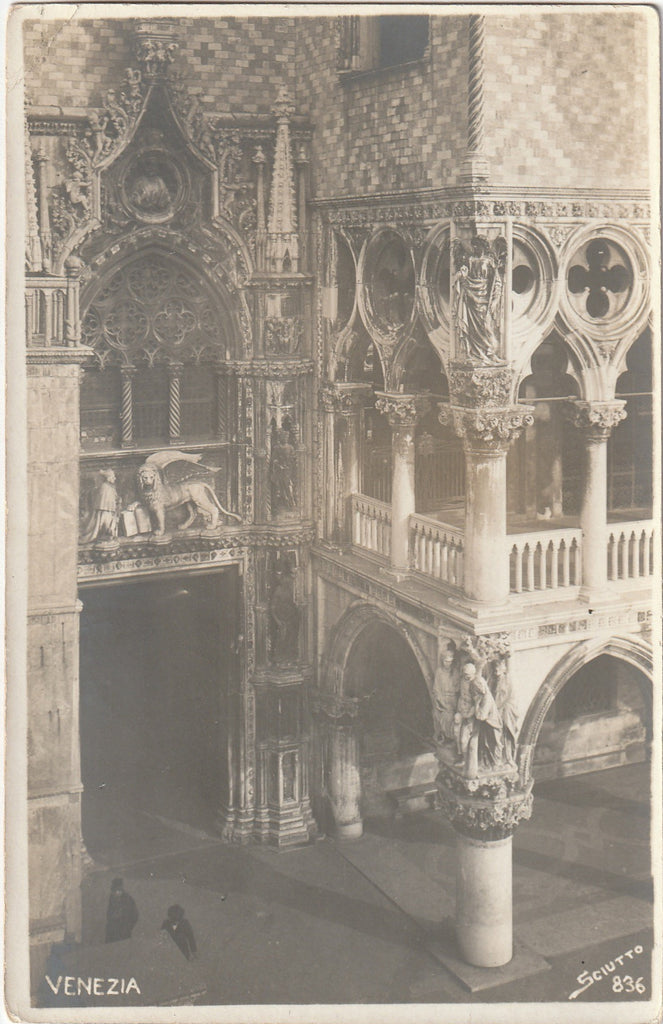 The Lion of Saint Mark - St. Mark Cathedeal, Venice RPPC