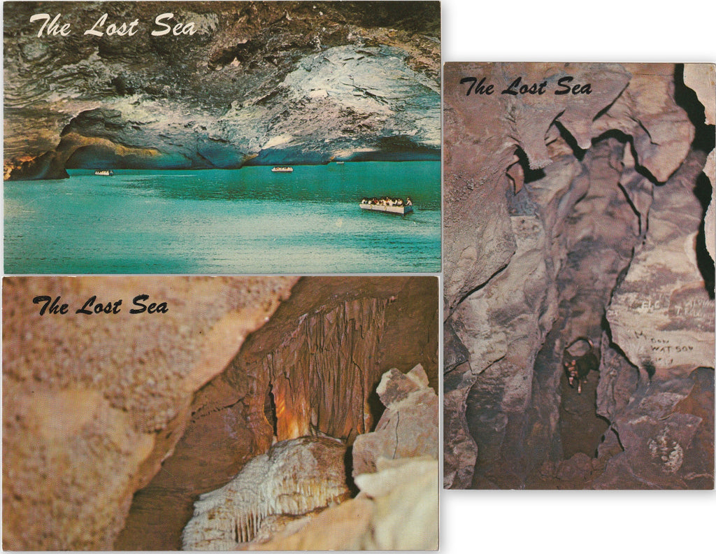 Cascades The Lost Sea Cave Tennessee Postcards SET