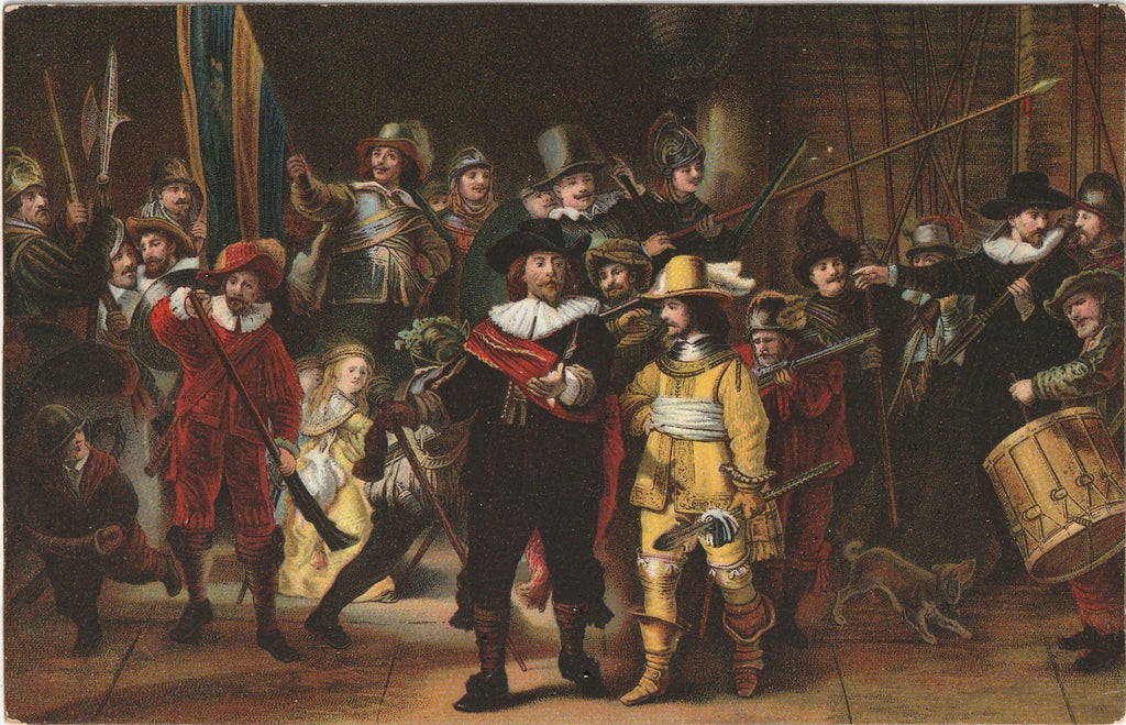 The Night Watch Rembrandt Van Rijn Antique Postcard