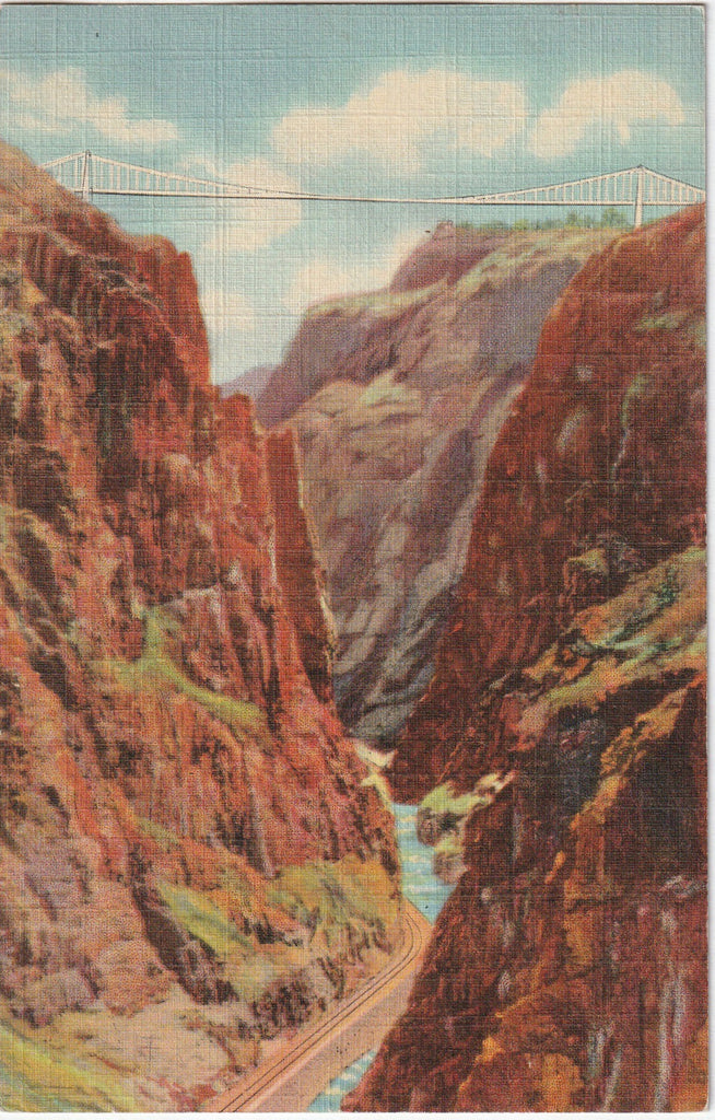 The Royal Gorge and World's Highest Suspension Bridge Colorado Postcard