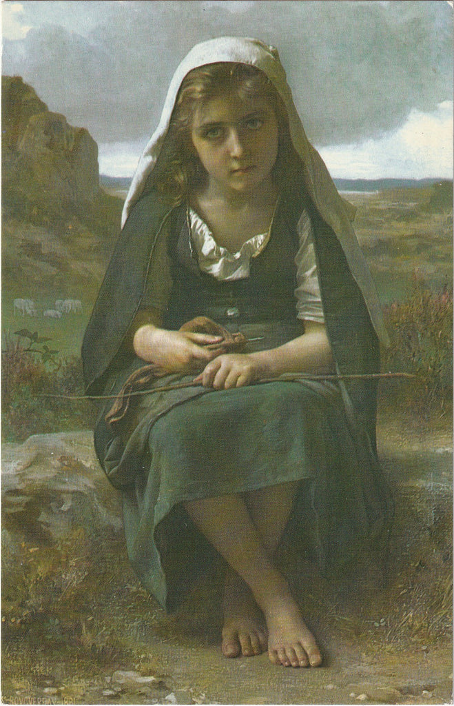 The Shepherdess William Adolphe Bouguereau Postcard