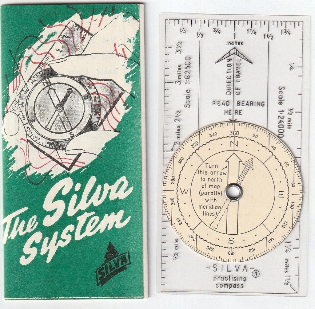 The Sylva System - Practice Compass and Instruction Pamphlet c. 1960s