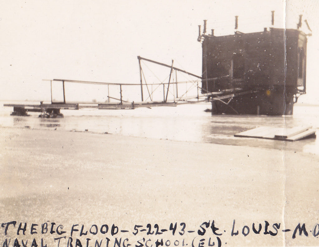 1943 Flood St. Louis Naval Training School Close Up