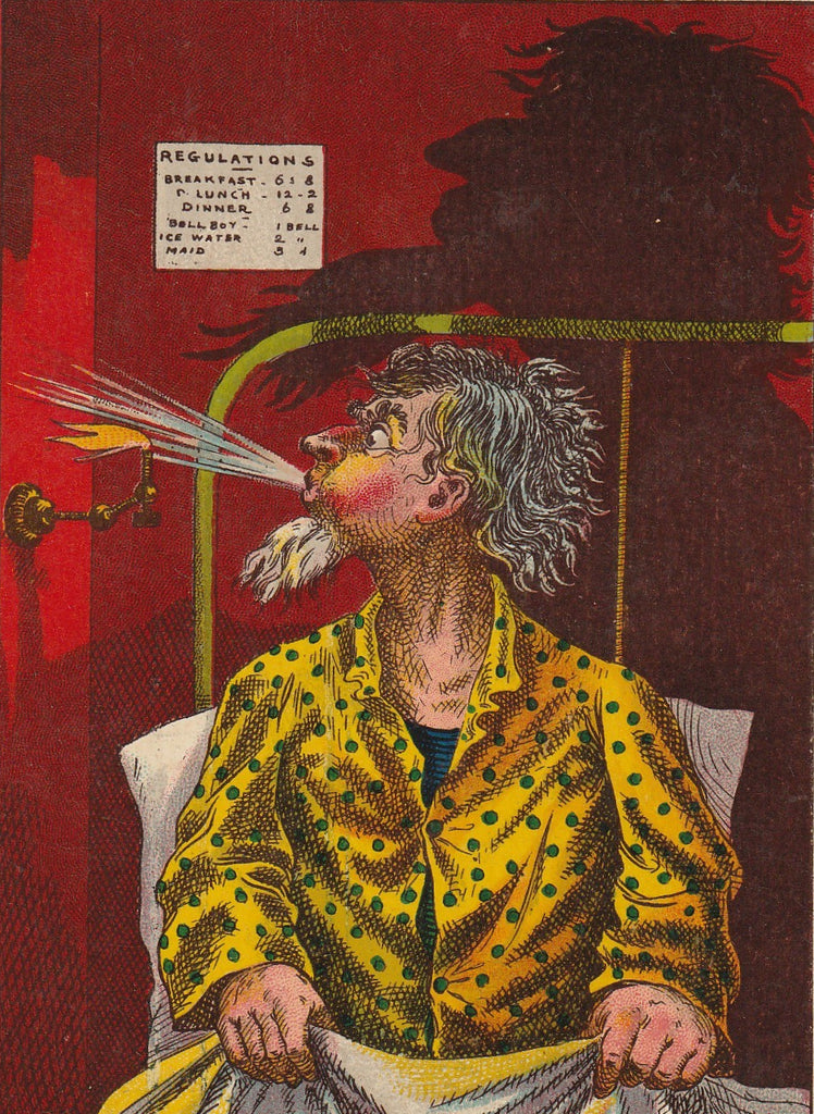 The Blow That Killed Uncle Silas Postcard Close Up
