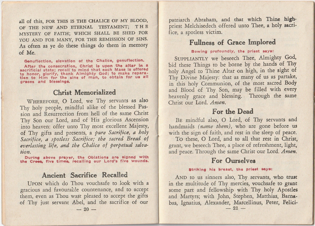 The Catholic Burial Service - Booklet, c. 1934