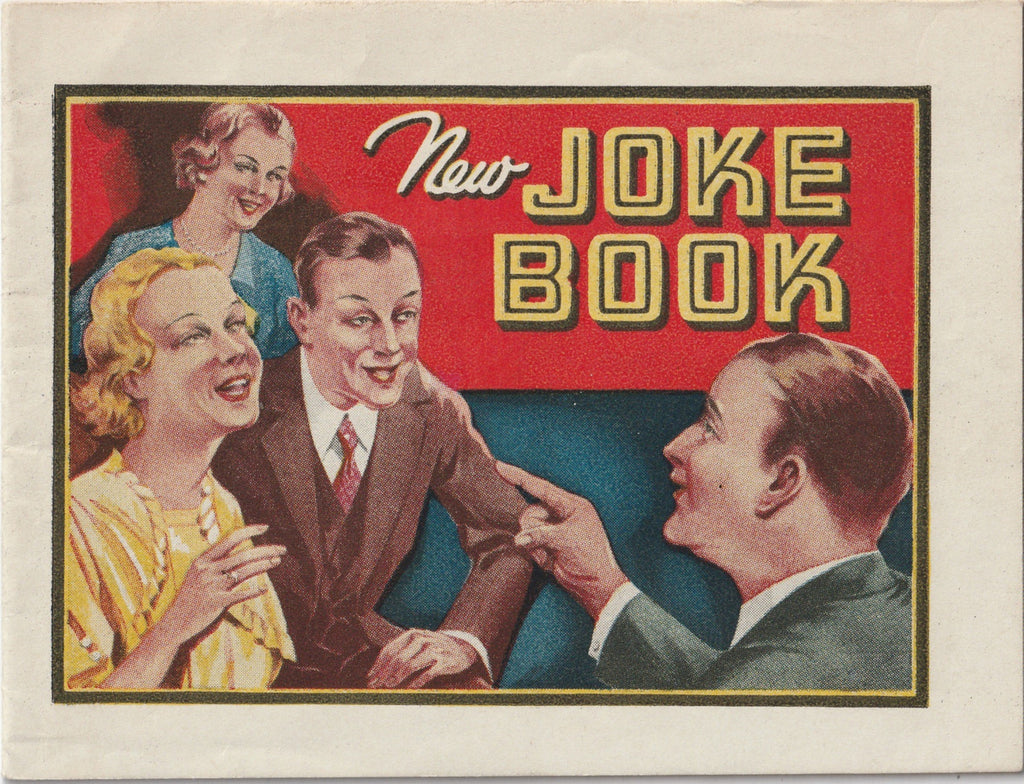 The New Joke Book Dr. Miles Nervine Booklet 1930s