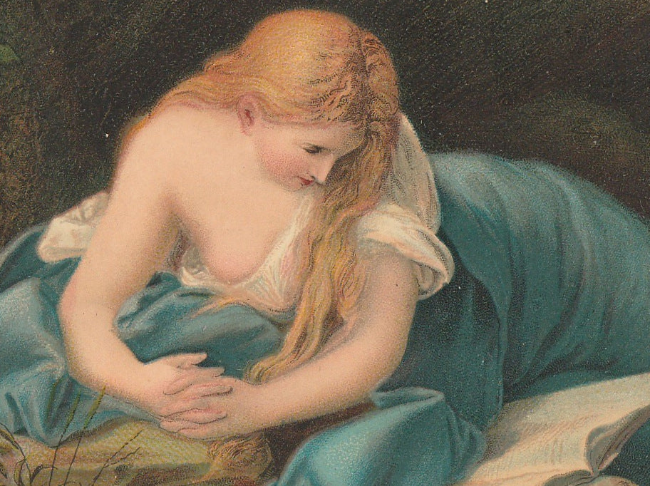 The Penitent Mary Magdalene - Pompeo Batoni Postcard Close Up 2
