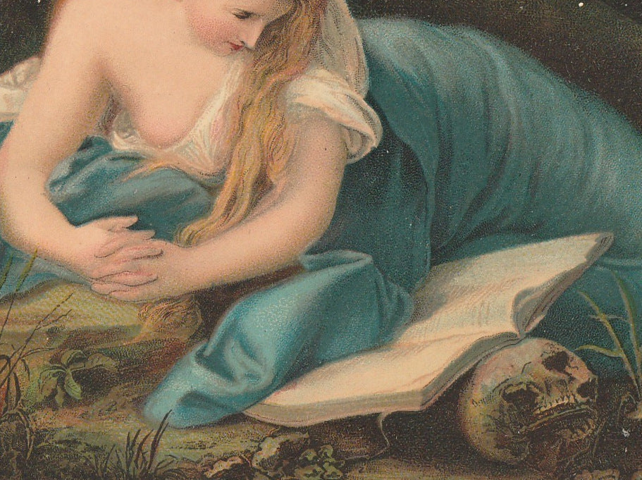 The Penitent Mary Magdalene - Pompeo Batoni Postcard Close Up 3
