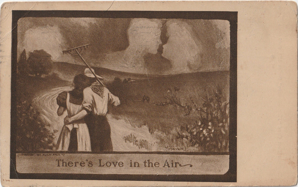 There's Love in The Air Postcard