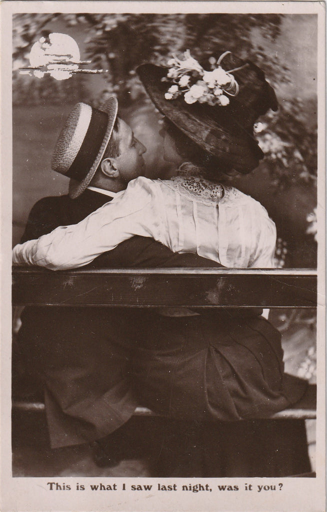 This Is What I Saw Last Night, Was It You? - RPPC, c. 1900s