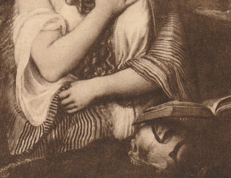 Mary Magdalene Tiziano Vecellio Postcard Close Up 3