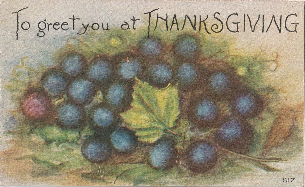 To Greet You at THANKSGIVING Postcard