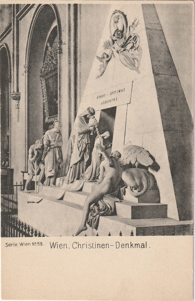 Tomb of Maria Christina Vienna Postcard