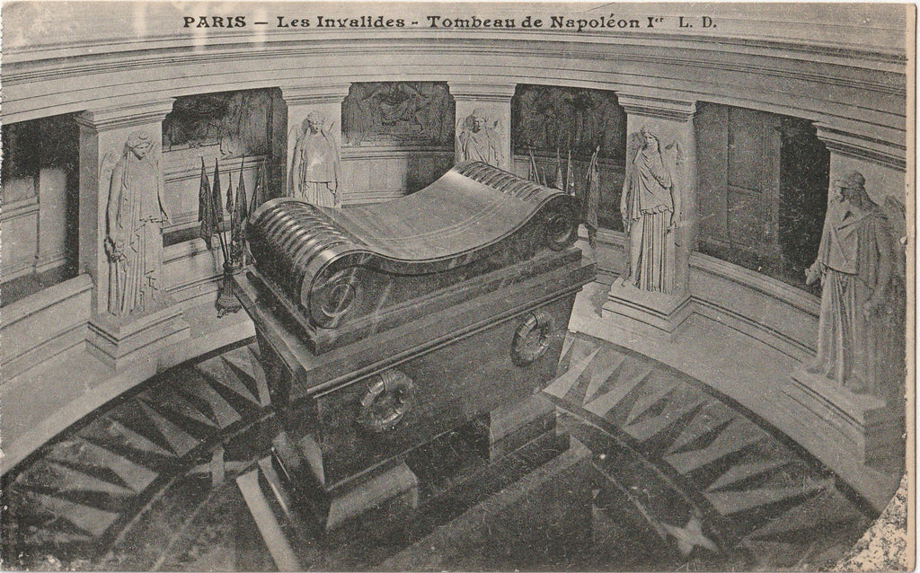Tomb of Napoleon Les Ivalides Museum Paris, France Antique Postcard