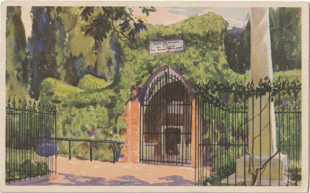 Tomb of Washington Mount Vernon Virginia Postcard