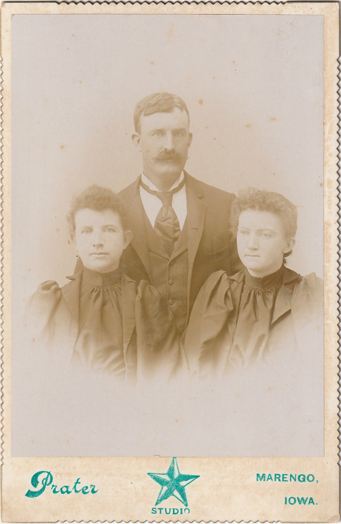 Trio from Marengo Iowa Cabinet Photo