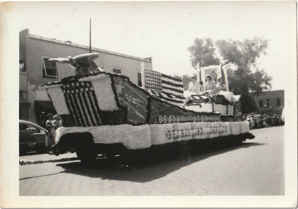 US Army US Air Force Recruiting Service Float June 18 1953 Photo