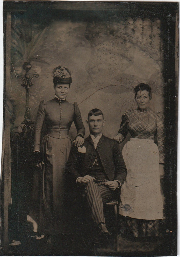 Unfriended Antique Victorian Tintype