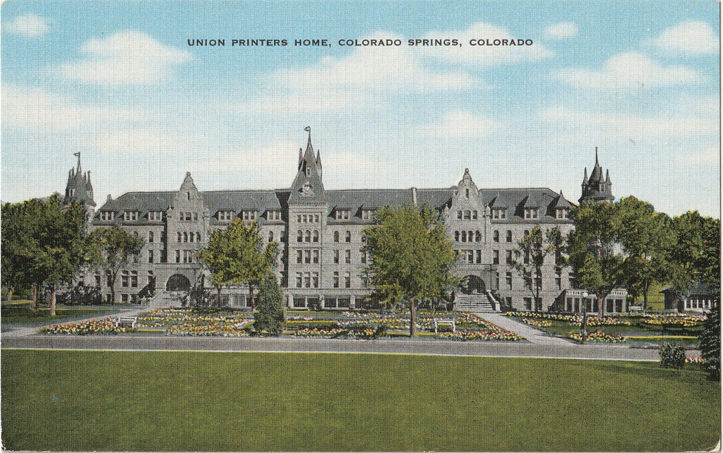 Union Printers Home Colorado Springs CO Postcard