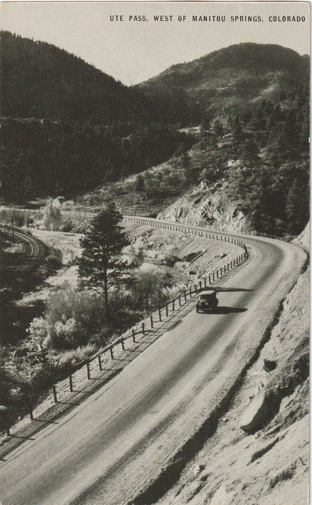 Ute Pass West of Manitou Springs Colorado Postcard