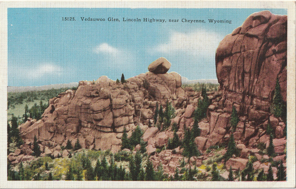 Vedauwoo Glen - Lincoln Highway - Cheyenne, Wyoming - Postcard, c. 1910s