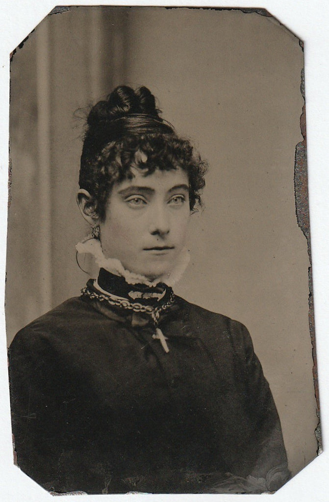Victorian Beauty Tintype Photograph