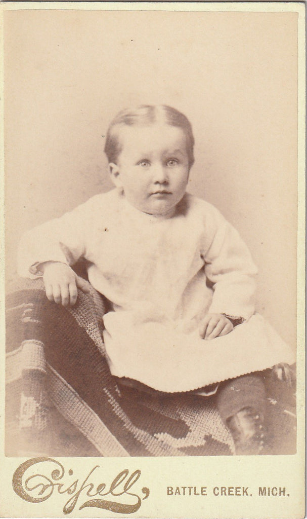 Victorian Boy - Battle Creek, Michigan - CDV Photo, c. 1800s