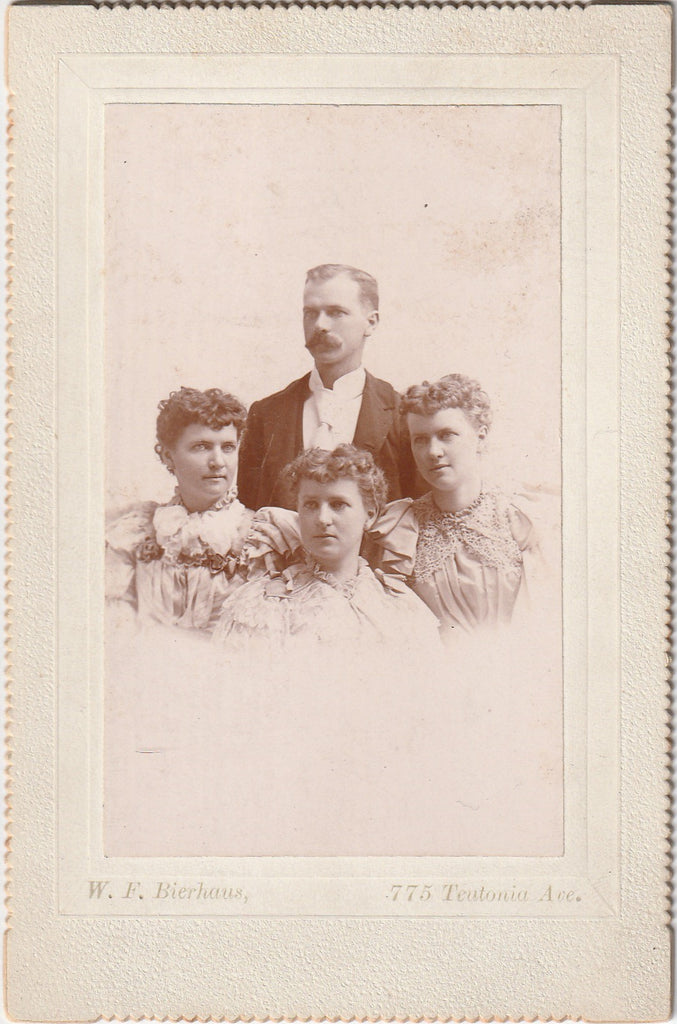 Victorian Quadruplets - W. F. Bierhaus - Milwaukee, WI - Cabinet Photo, c. 1890s