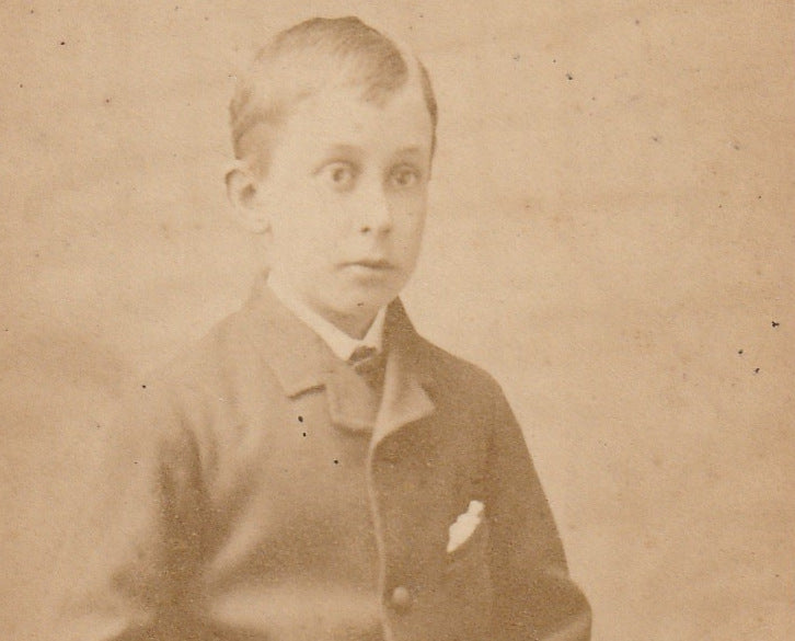 Victorian Cricketer Boy CDV Close Up 3