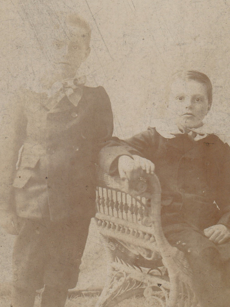 Victorian Ghost Twins Cabinet Photo Close Up 2