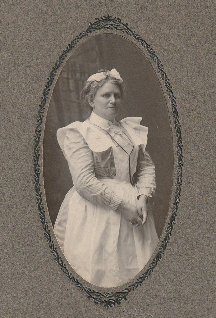 Victorian Nurse Franklin PA Antique Cabinet Photo Close Up