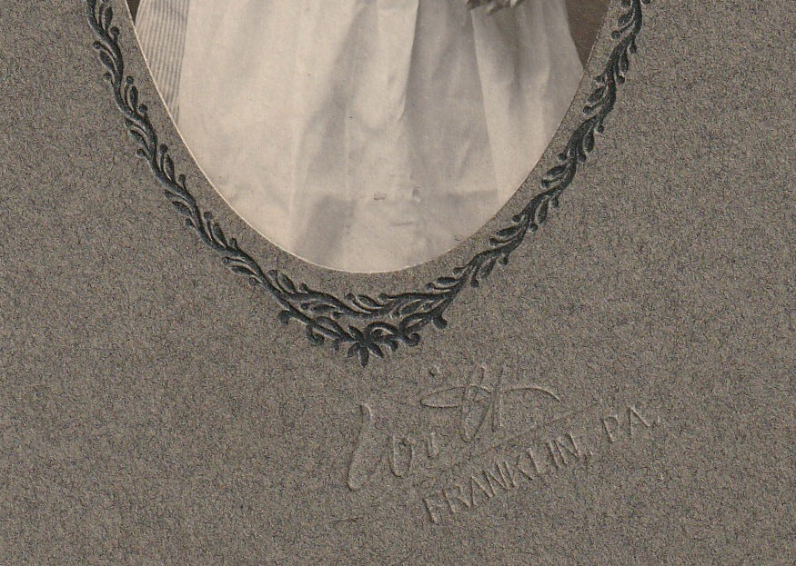 Victorian Nurse Franklin PA Antique Cabinet Photo Close Up 4