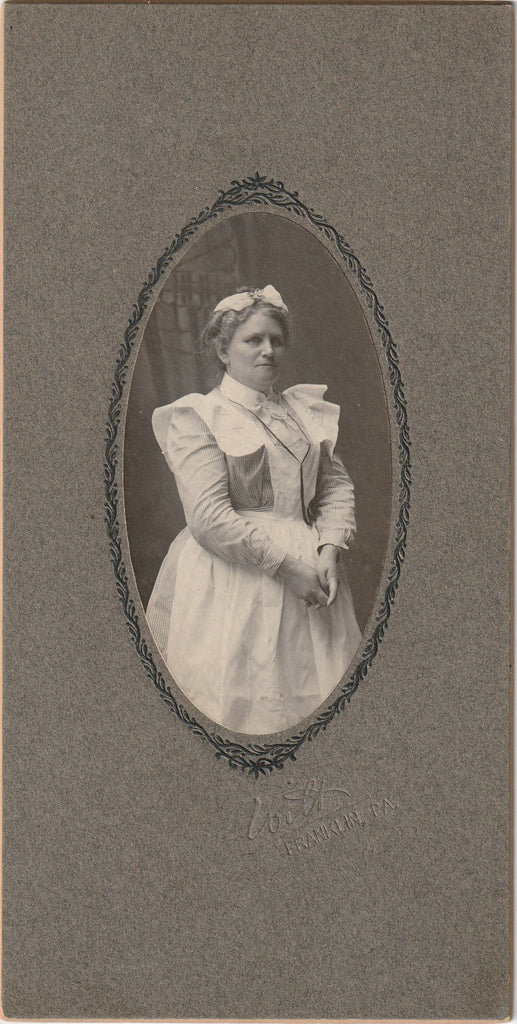 Victorian Nurse Franklin PA Antique Cabinet Photo