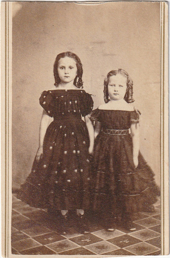 Victorian Sisters Antique CDV Photo