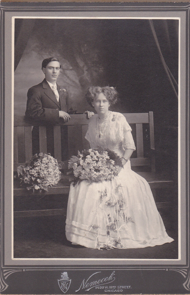 Victorian Wedding Portrait Chicago 1890s