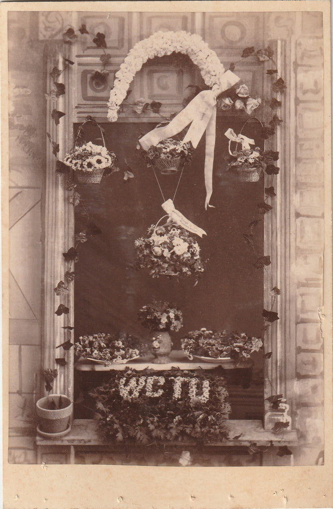 WCTU Funeral Flowers Cabinet Photo