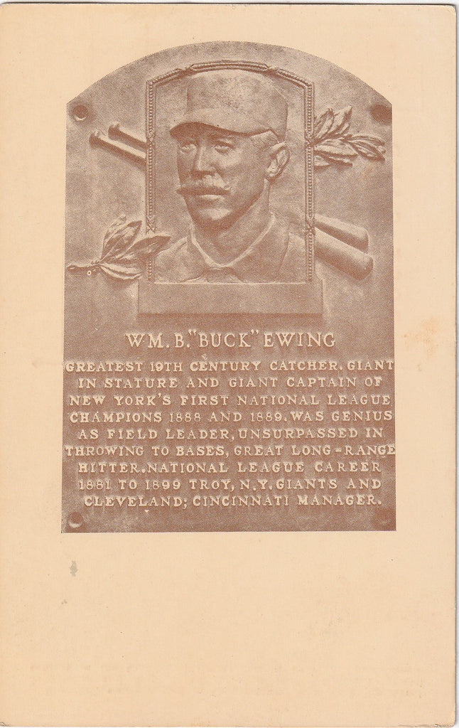 National Base Ball Hall of Fame Cooperstown NY Postcard William Buck Ewing