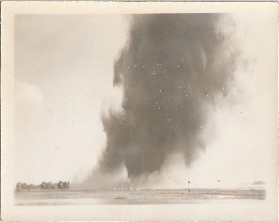 WW2 Air Attack - Snapshot, c. 1940s