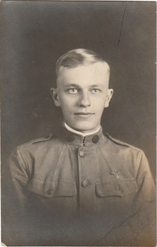 WWI Soldier RPPC Antique Photo