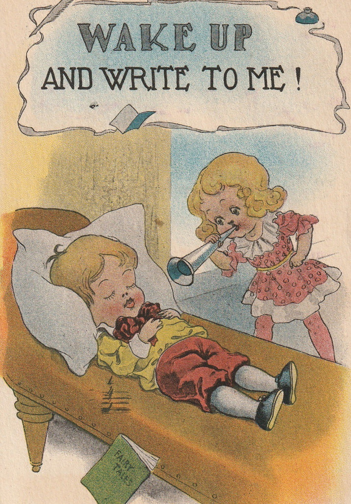 Wake Up and Write To Me Postcard Close Up