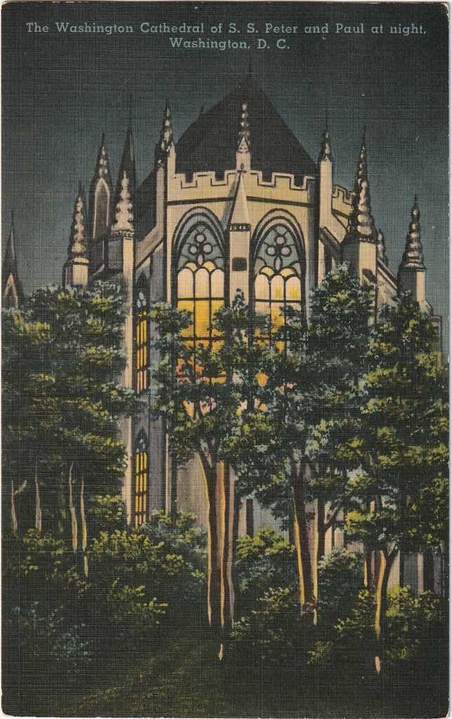 Washington Cathedral S. S. Peter and Paul Washington D.C. Postcard