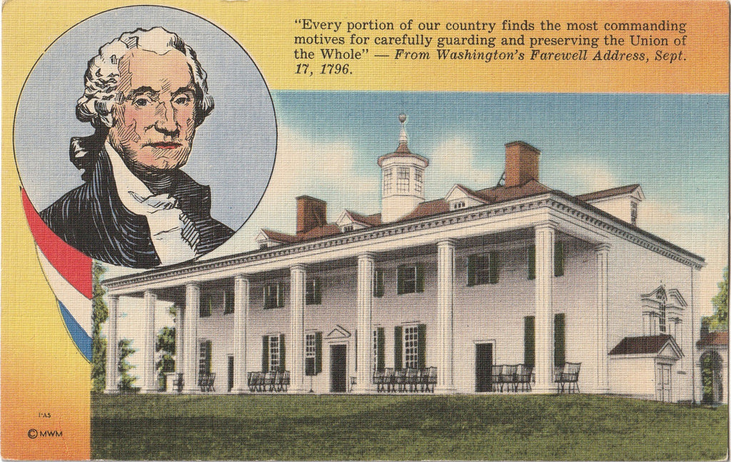 Washington's Farewell Address Postcard