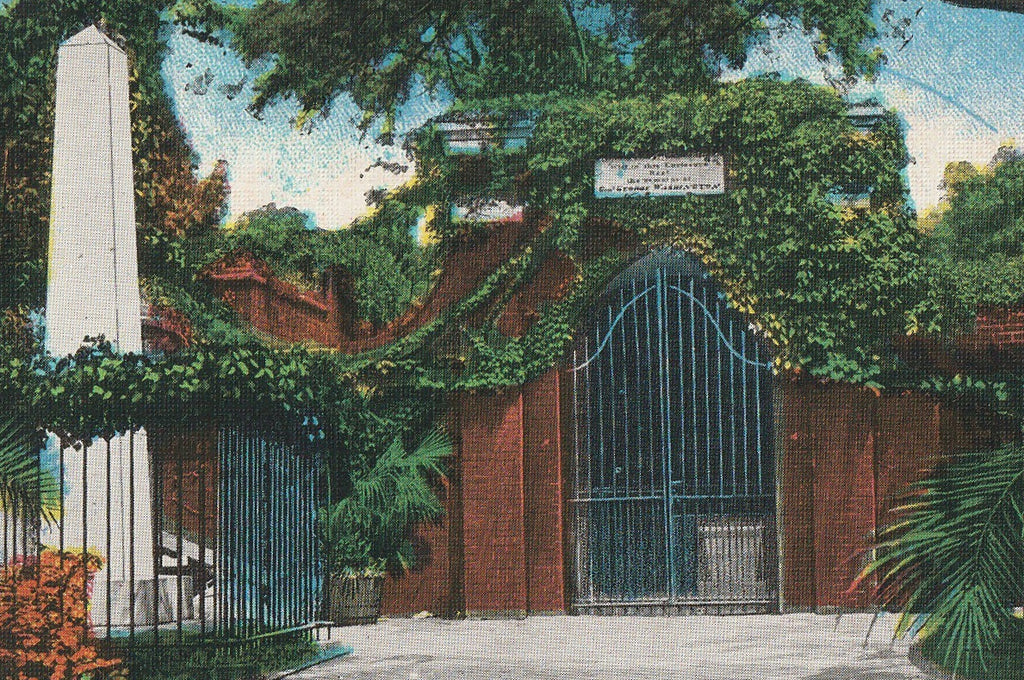 Washington's Tomb Mt Vernon VA Antique Postcard Close Up 2