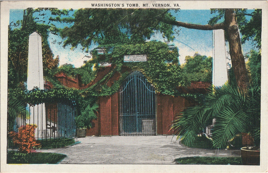 Washington's Tomb Mt Vernon VA Antique Postcard
