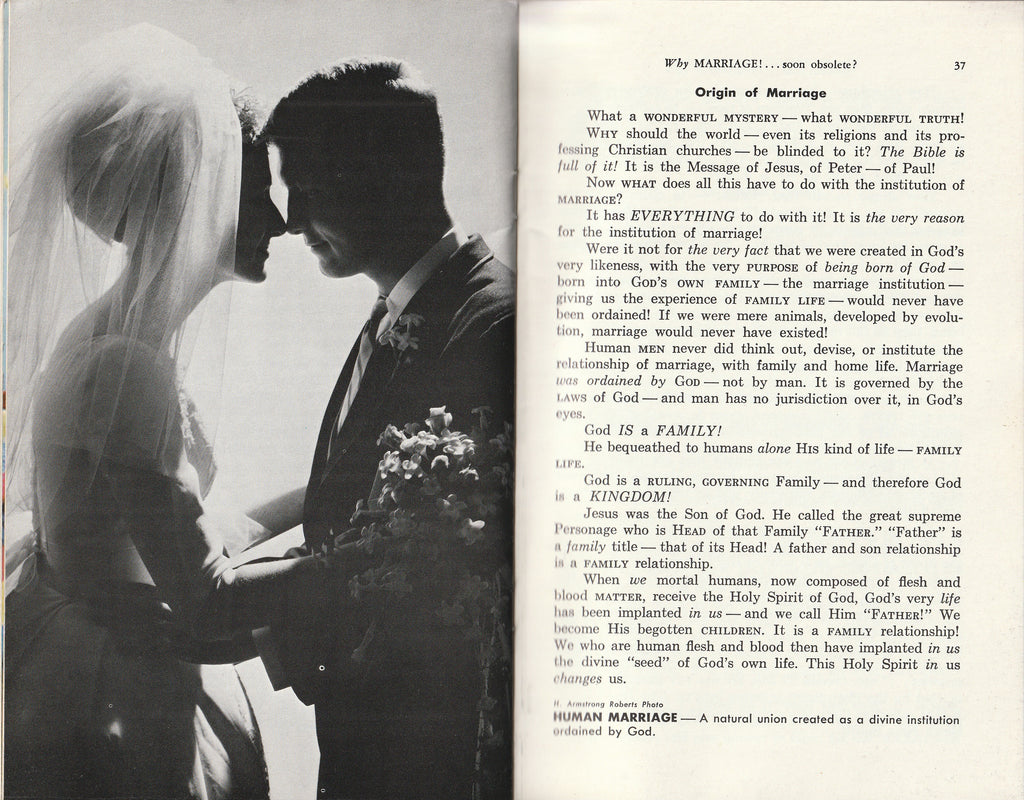 Why Marriage, Soon Obsolete? - Herbert W. Armstrong - Booklet, c. 1968 Inside 5
