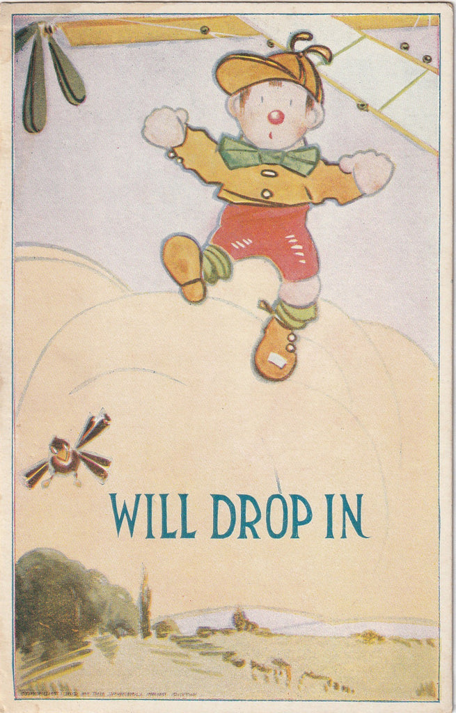 Will Drop In Postcard