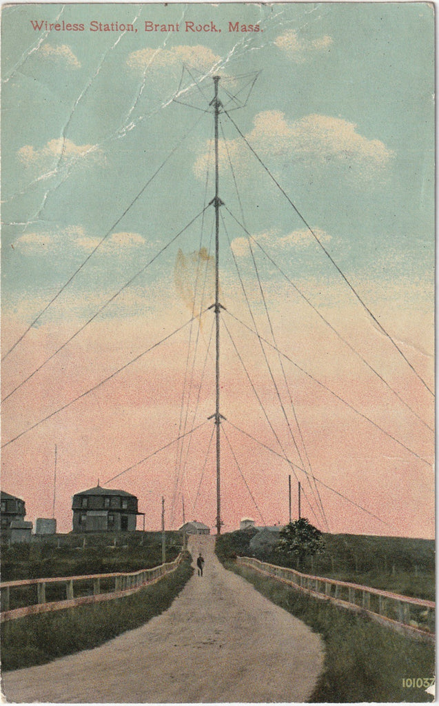 Wireless Station - Brant Rock, Massachusetts - Postcard, c. 1910s