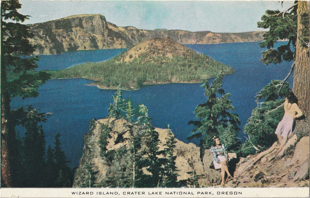 Wizard Island Crater Lake National Park Oregon Postcard