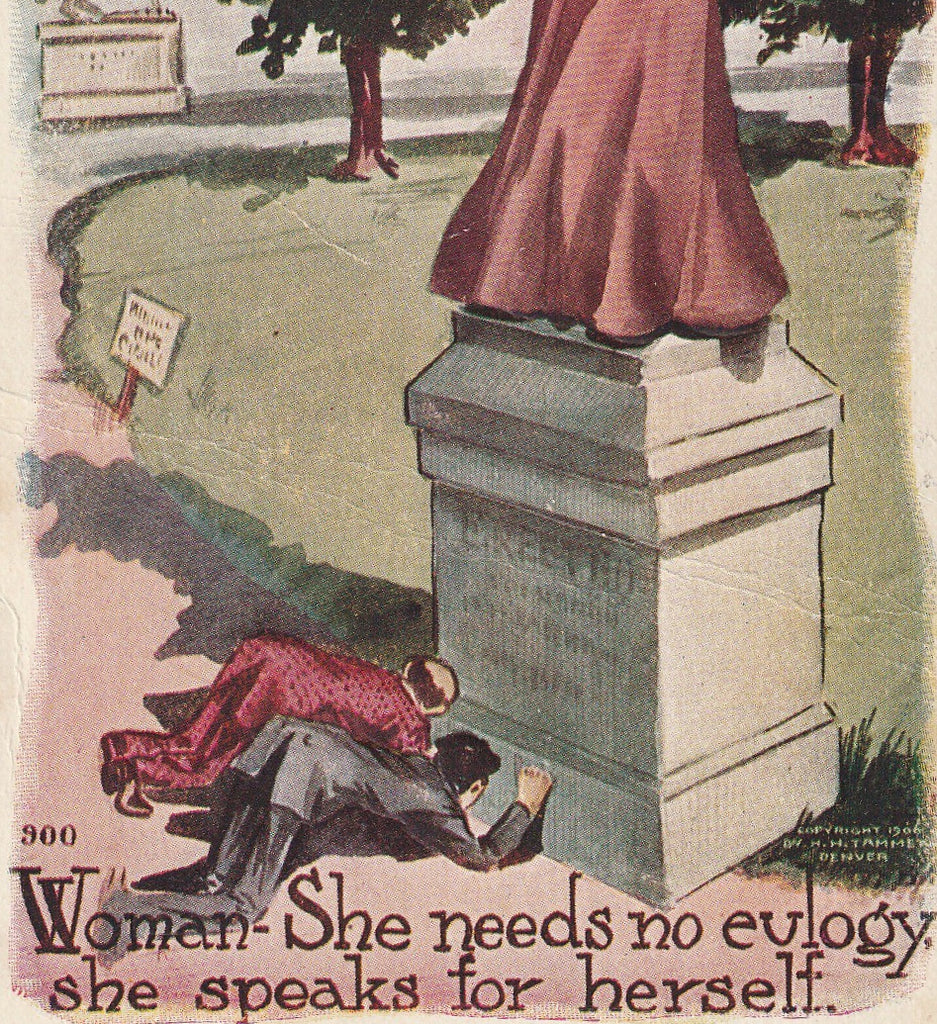 Woman She Needs No Euloguy  H H Tammen Postcard Close Up 3