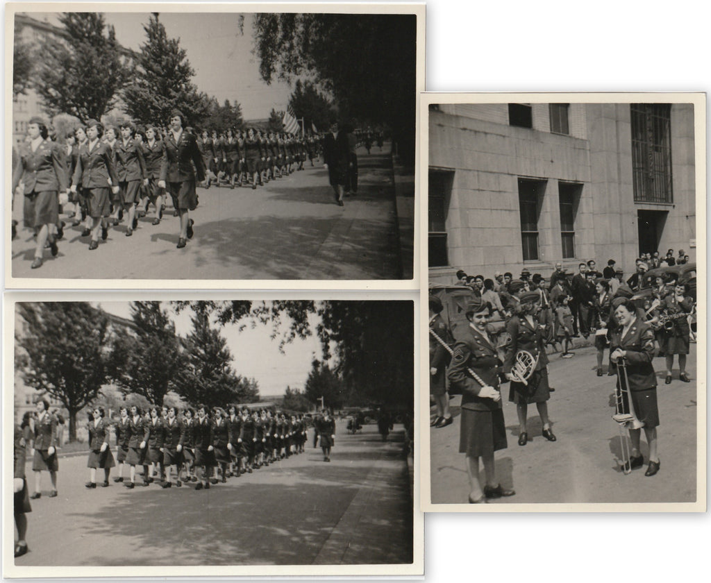 Women's Army Corps Parade WW2 WAC Vintage Photos
